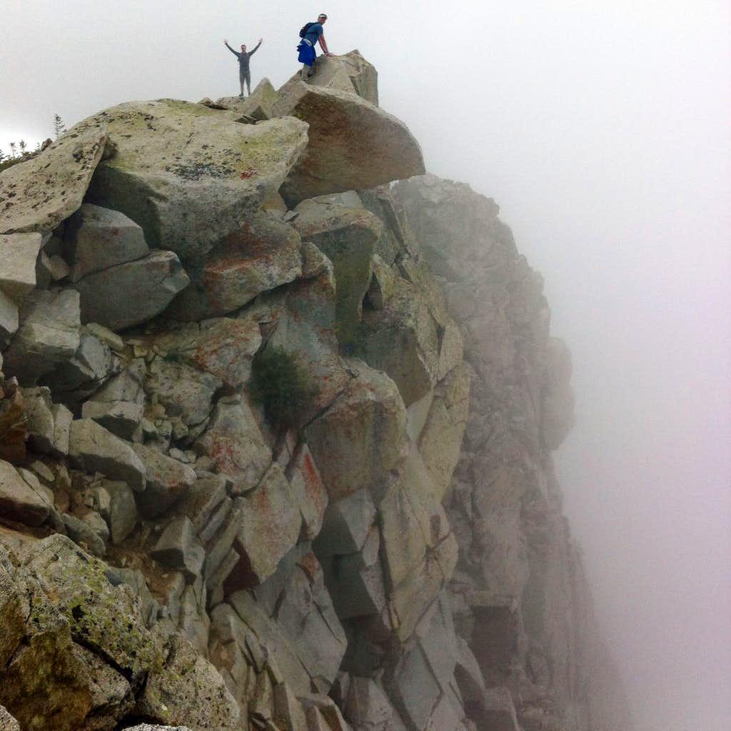 Kendrick & David above cliff