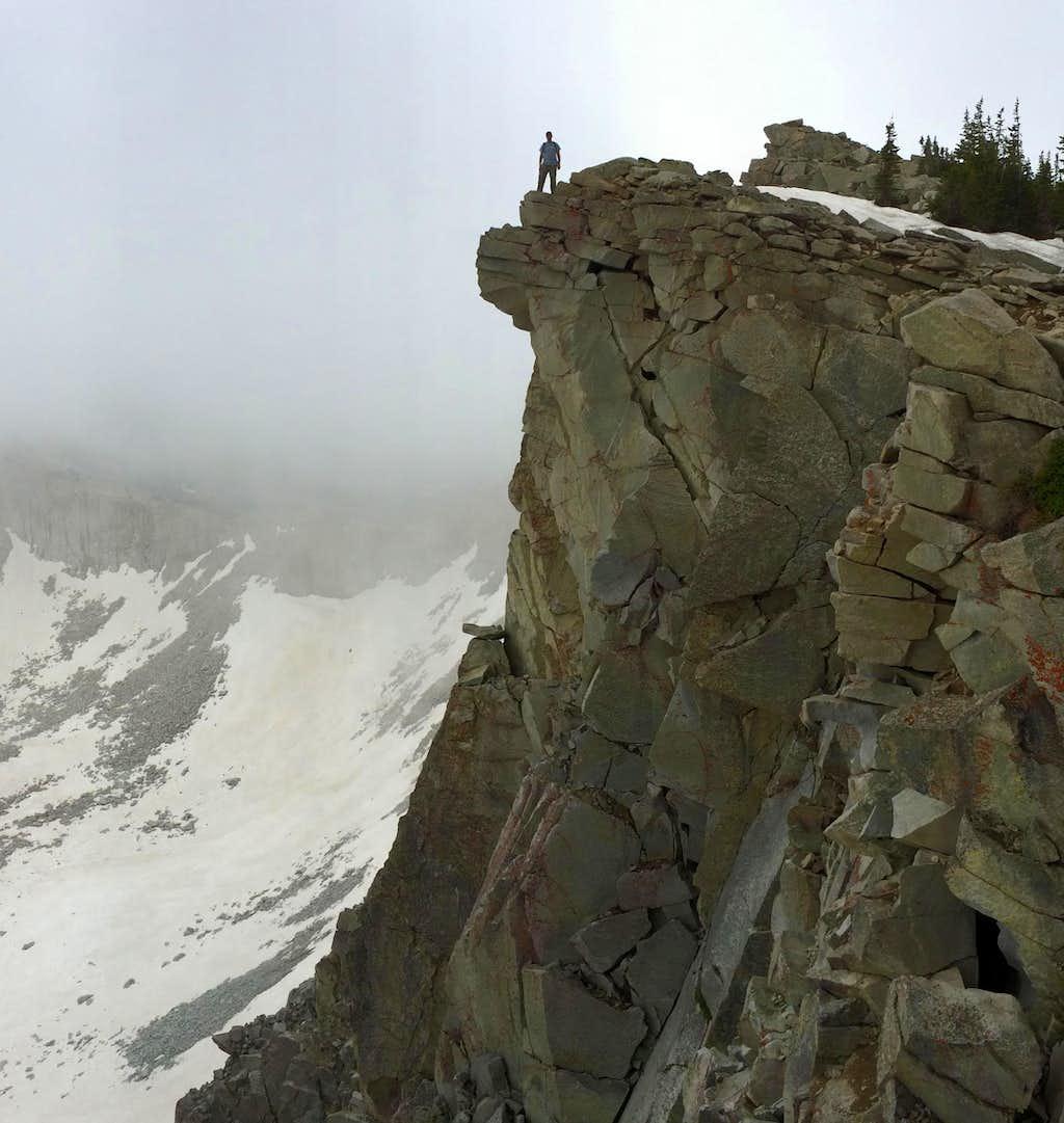 Brandon on cliff