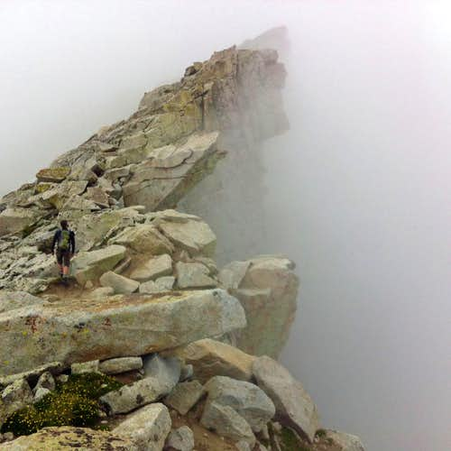 Misty ridge traverse