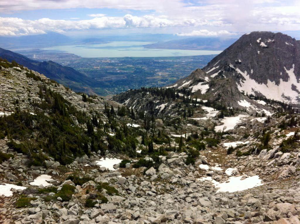 Utah Lake from Thunder Mountain