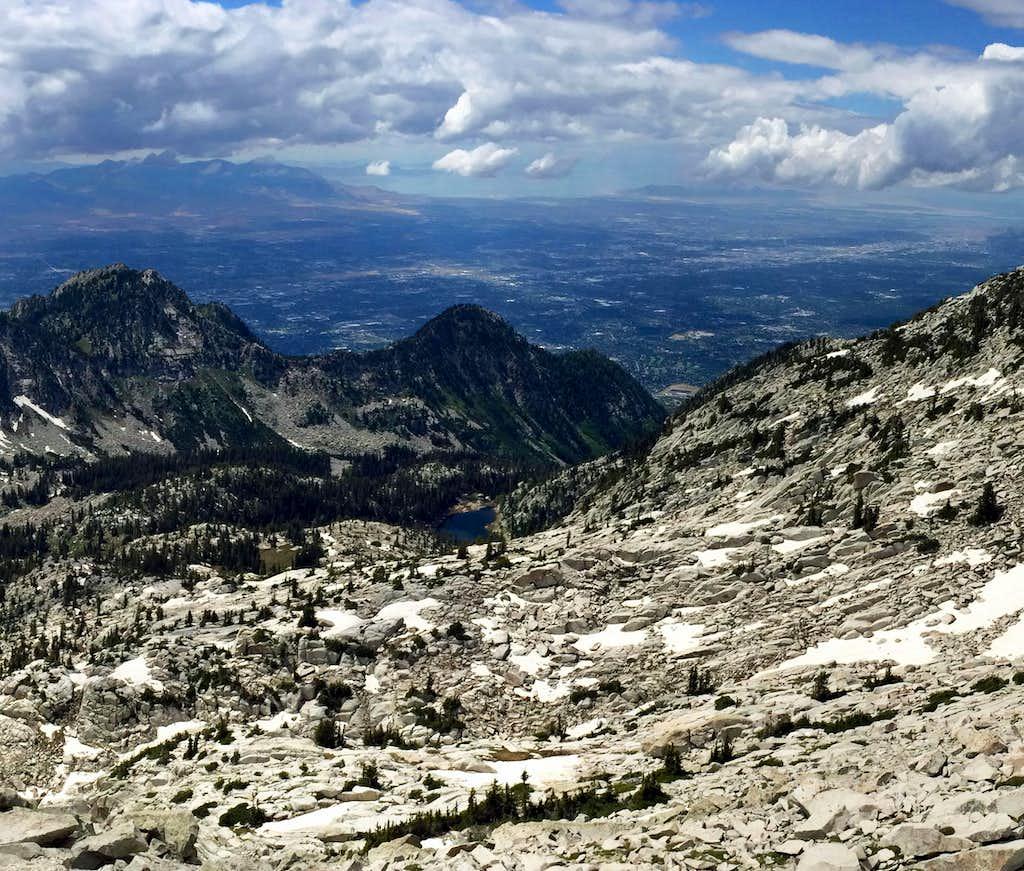 Salt Lake Valley from Thunder Mountain