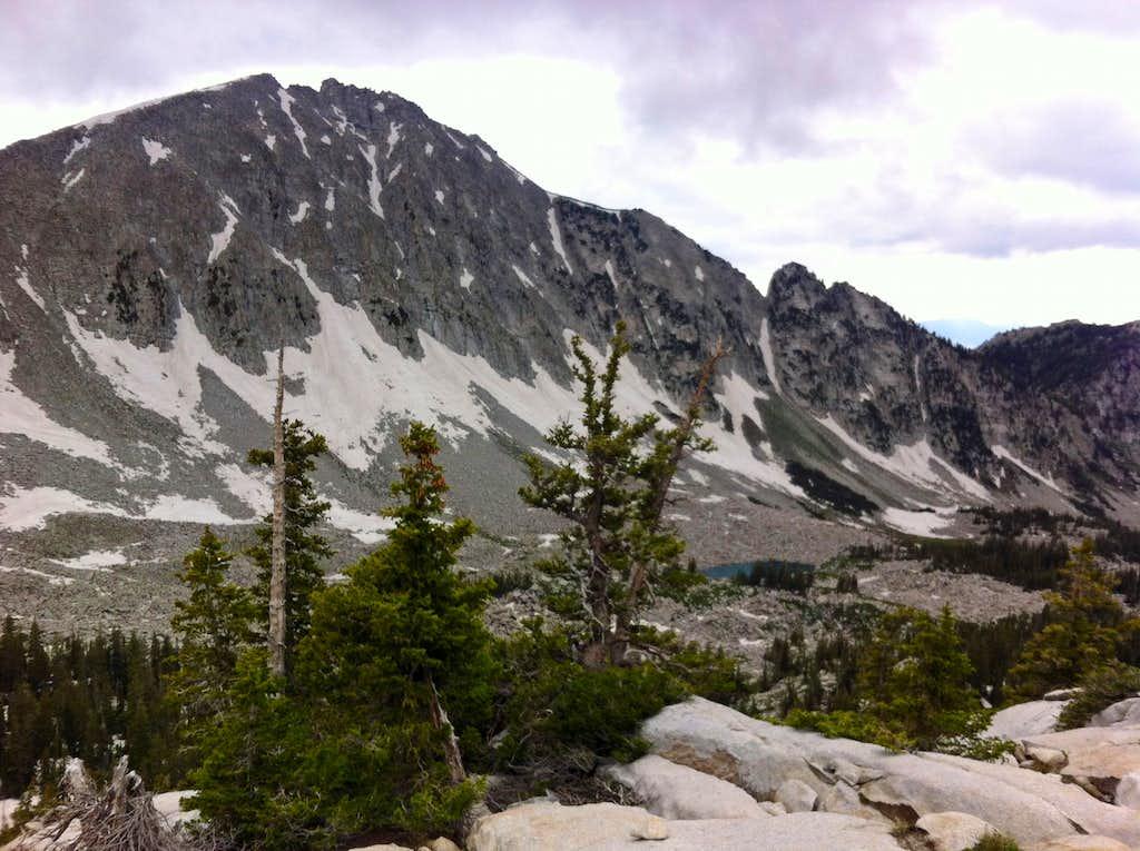 Lone Peak over Upper Bells