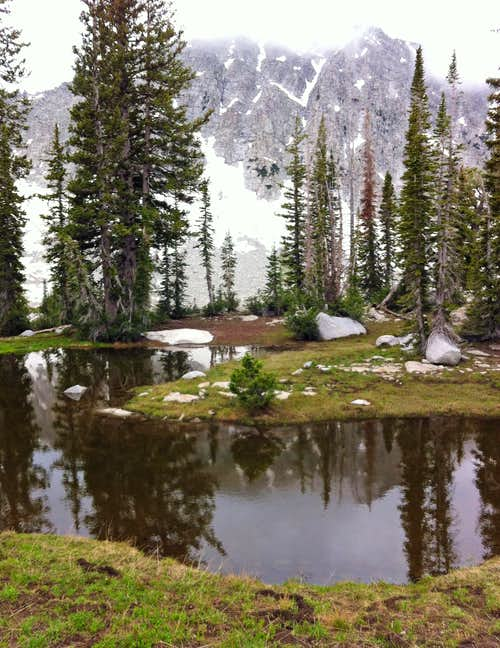 Pond below Lone Peak