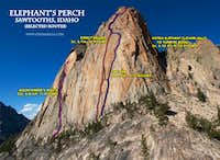 4 climbs of Elephant\'s Perch: Mountaineer\'s Route, Direct Beckey, Fine Line, Astro-Sunrise Book