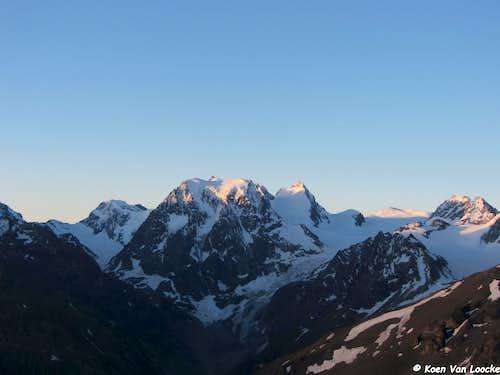 Mont Collon at sunrise