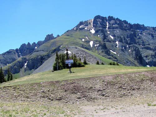 The northwestern ridgeline of Palmyra Peak