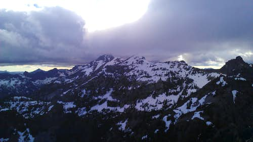 Snoqualmie and Lundin from Red Mt.