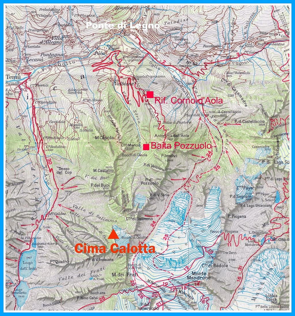 Cima Calotta map