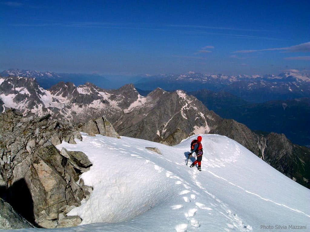 Near the top of Cima Calotta