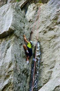 Climber in Paklenica