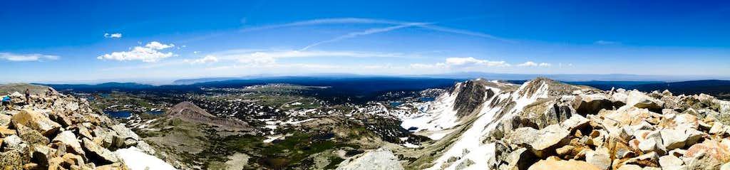 Snowy Range Panorama from Medicine Bow Summit