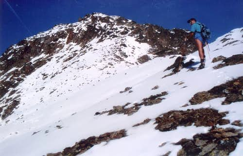 Mont Fallère On South-southwest Crest with snow 1998