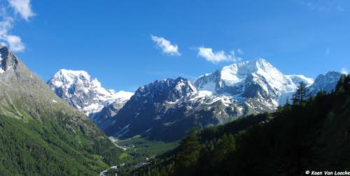 Mont Collon and Pigne d'Arolla
