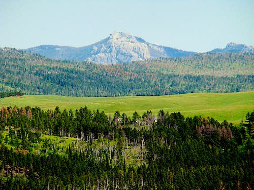 Hat Mountain view of Black Elk Peak