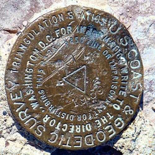 Hat Mountain Geodetic Marker