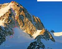 Aiguille du Chardonnet - Aureille-Feutren Gully III 4+ topo