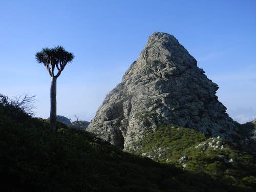 Peak in the Haghier Mountains