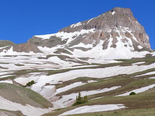 Lots of late snow, June 2014