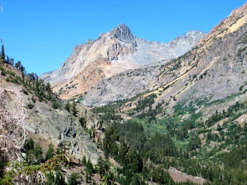 Virginia Peak from above Green Lake