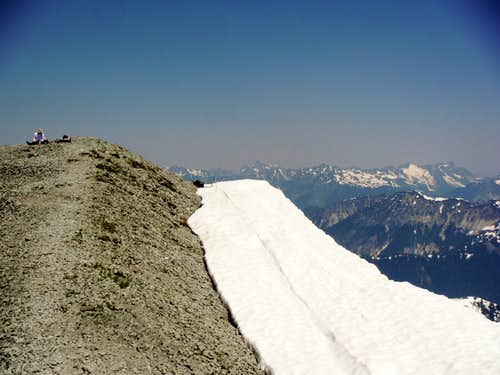 Looking at the true summit from the east viewpoint