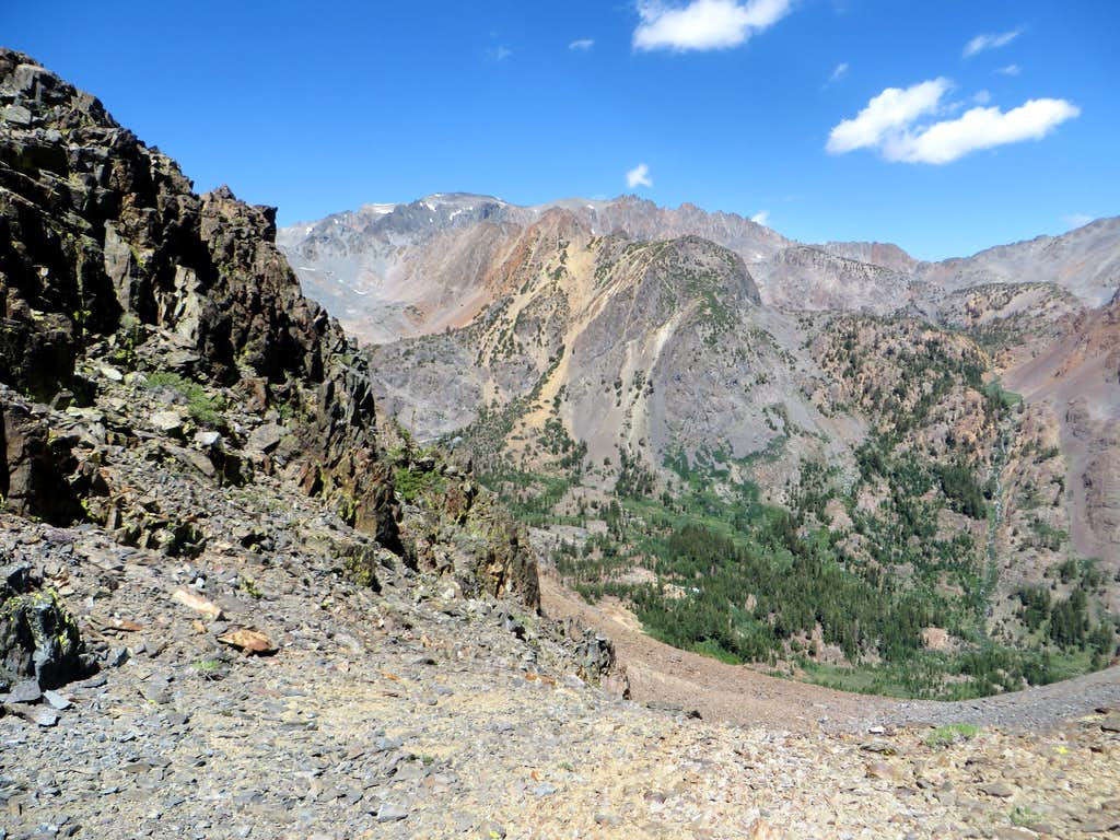 View towards Twin Peaks from Gabbro Saddle