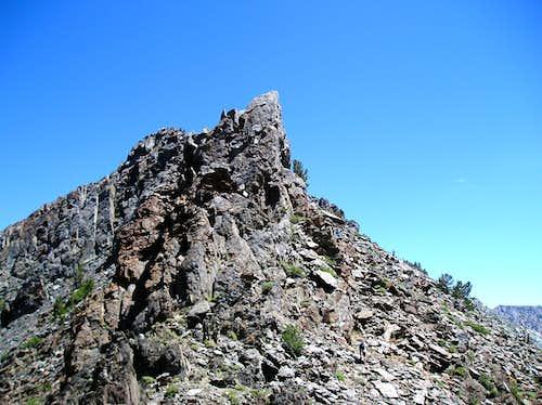 The jagged summit block