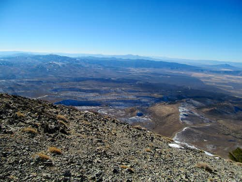 west from the false summit