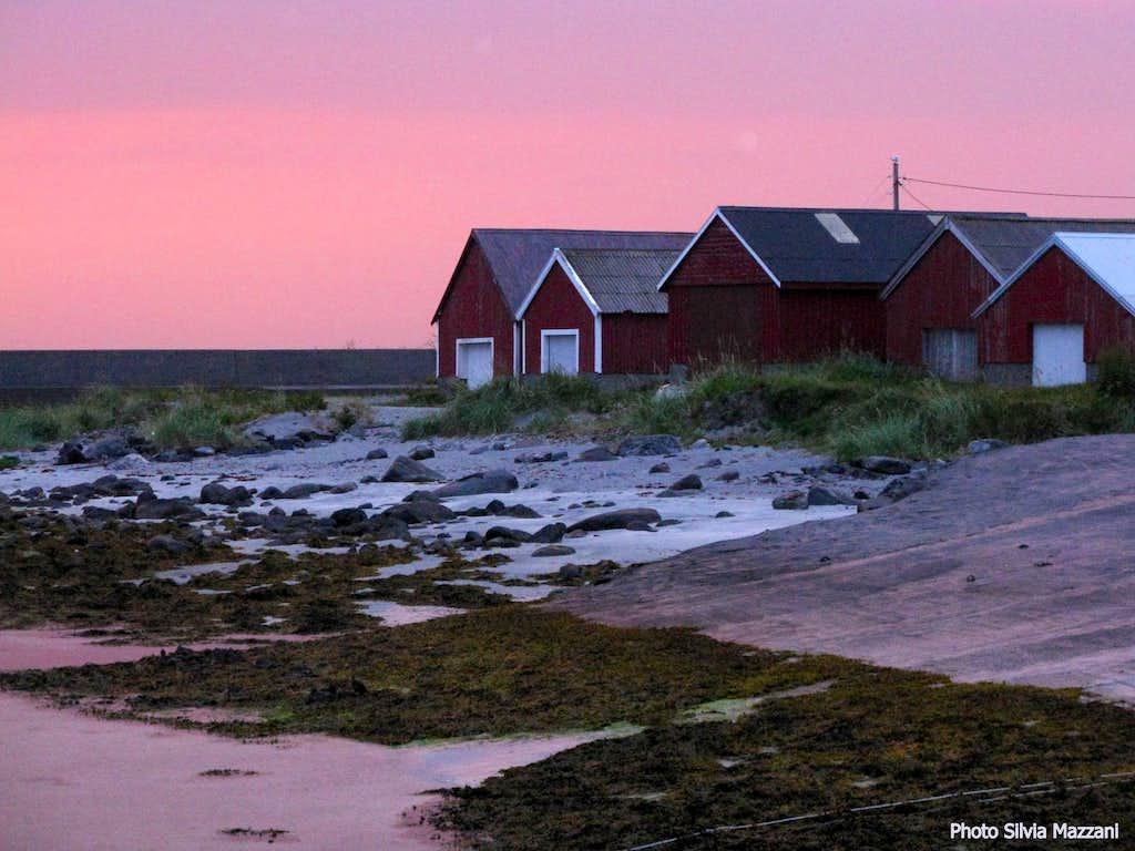 Sunset over Runde, Møre og Romsdal