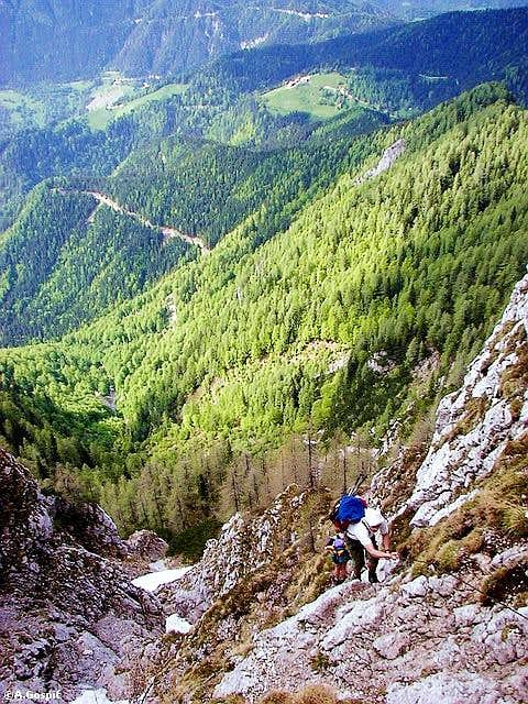 On the ferrata trail through...