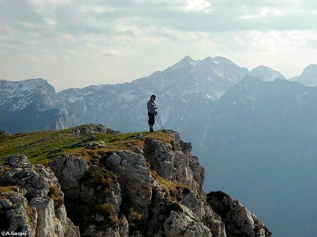 On the summit of Raduha...