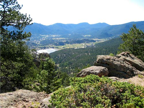 Estes Park from Gianttrack