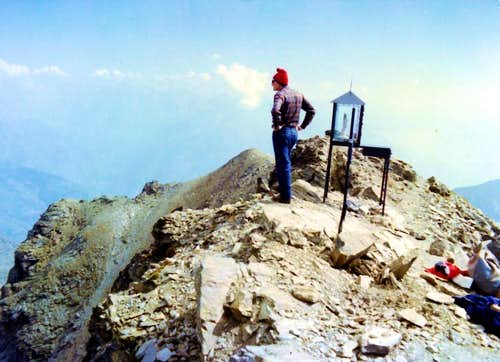 Mont Fallère Summit after Northern Little Wall 1972