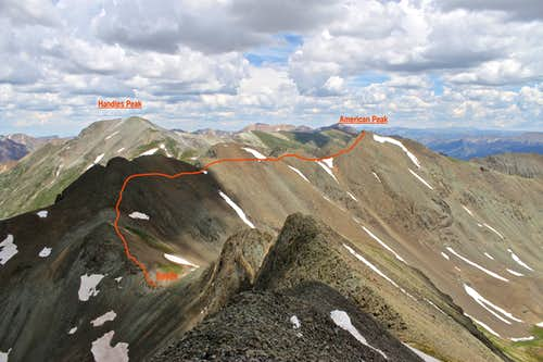 Traverse to American Peak