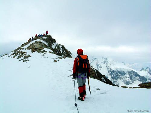 Parties on Morteratsch summit