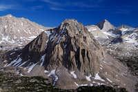 Mount Keith, Center Peak and Junction Peak from the lower slopes of University Peak