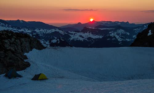 High Camp at sunset