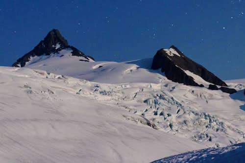 Sulphide Glacier in moonlight