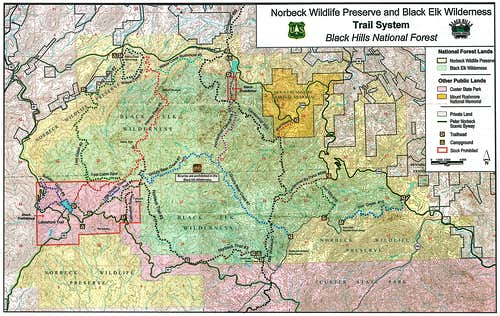 Black Elk Wilderness Map