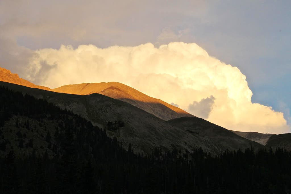 Clouds over Antero's lower point