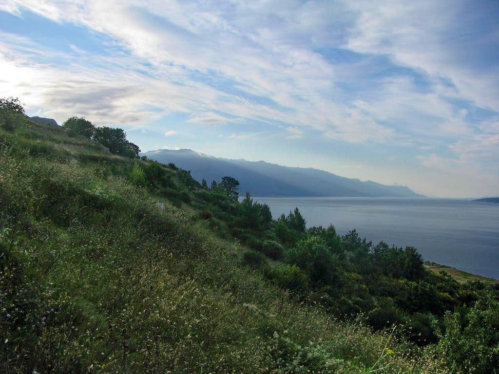 View to Biokovo from Celina