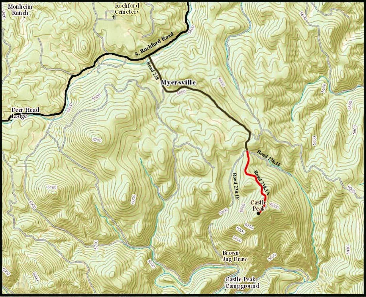 Castle Peak Trail Map : Photos, Diagrams & Topos : SummitPost on