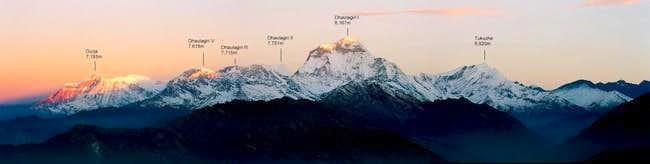 Sunrise over the Dhaulagiri...