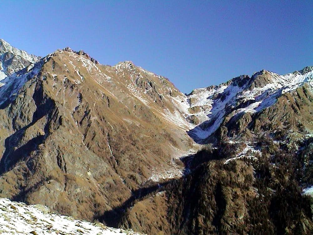 Estoul ... From Mont Ciosé or Staller Horn to East 2002