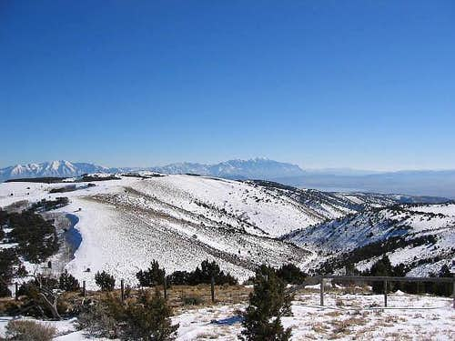 Mt Nebo can be seen to the...