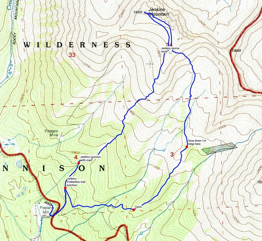 Jenkins Mountain Novice Route