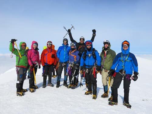 The Summitears weep triumphal tears on Mount Baker