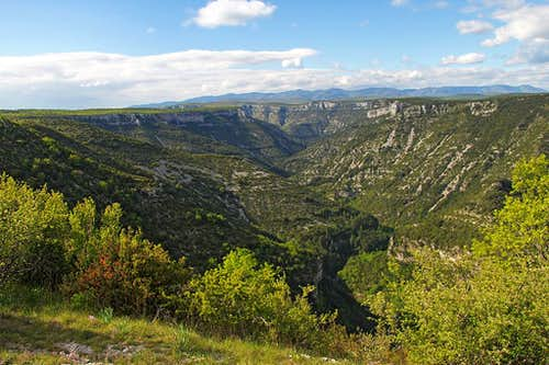 The upper Vis canyon