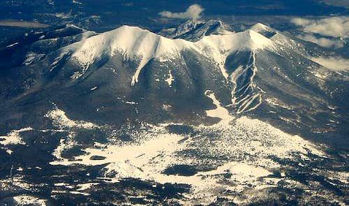 All six peaks of the San...