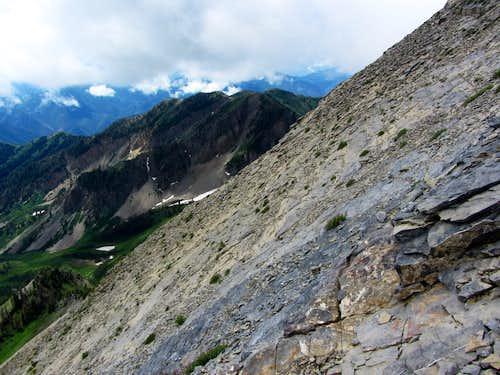 Steep southeast slope