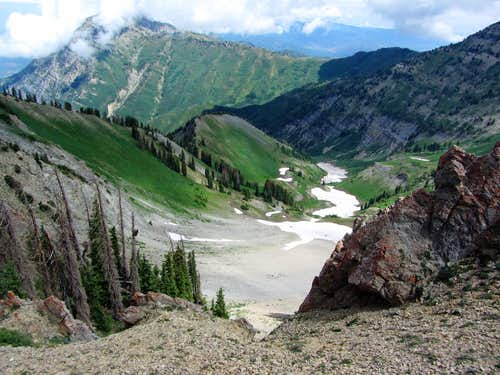 Basin north of Provo Ridge